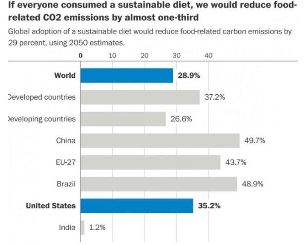 Desperdicio cero. Dieta sostenible y reducción de la huella de carbono